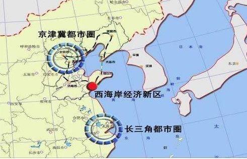 同时两个新区的发展方向来看,上海浦东往东往南发展,而西海岸经济新区