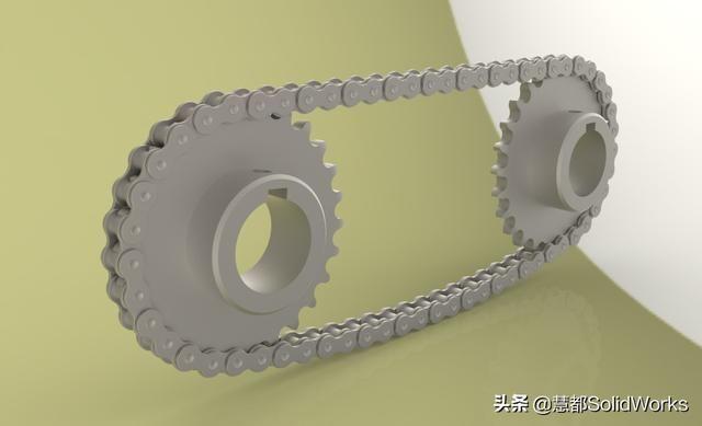 一个由SolidWorks设计的模型和链轮链条学丹东设计图片
