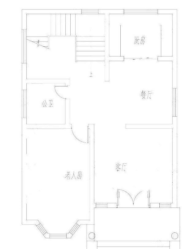 图纸详情:这款农村自建房设计图开间进深8米×11.