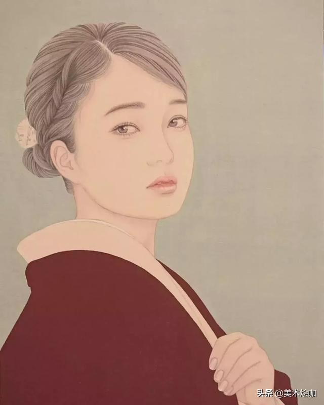 雁原唱女中�_日本女画家宫崎优笔下的工笔仙女,将东方尤物画出极致