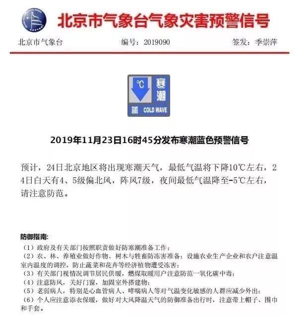 在路上■緊急預警!北京氣溫直降10℃!大風、寒潮就在路上!