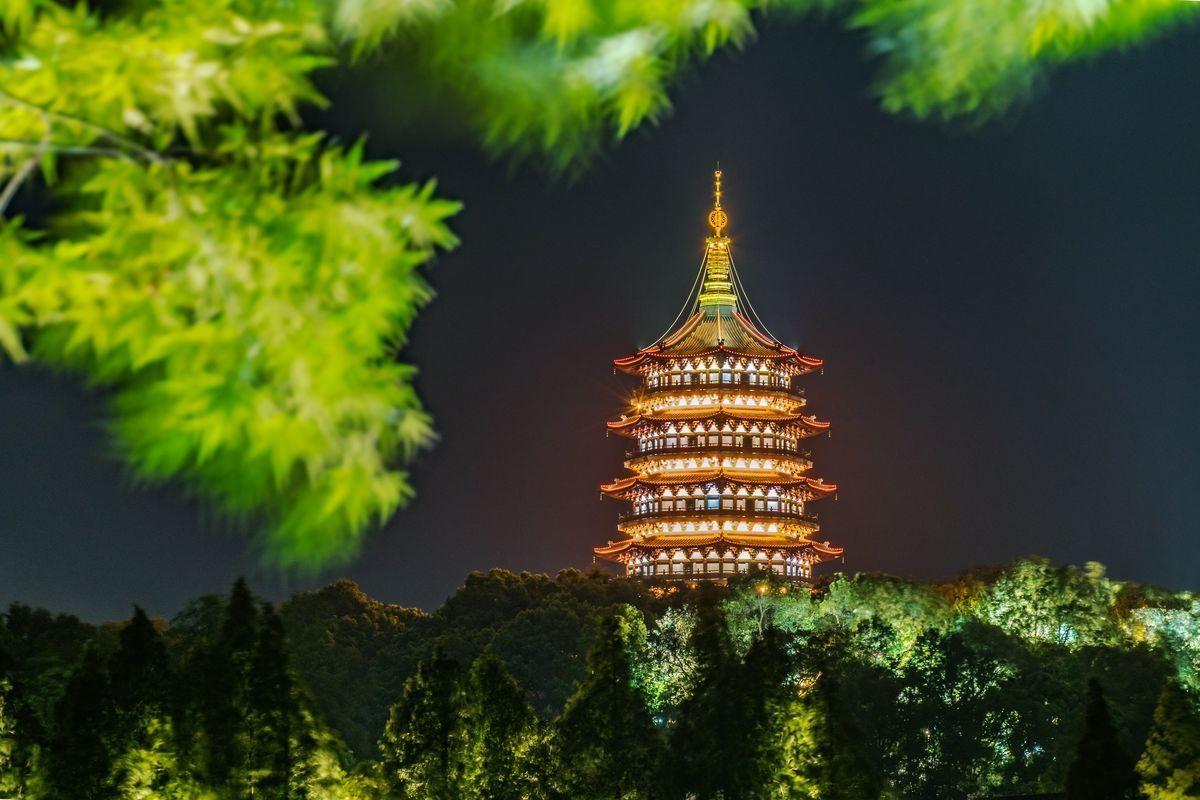 杭州雷峰塔亮化照明工程v照明解析建筑设计今后工作计划图片