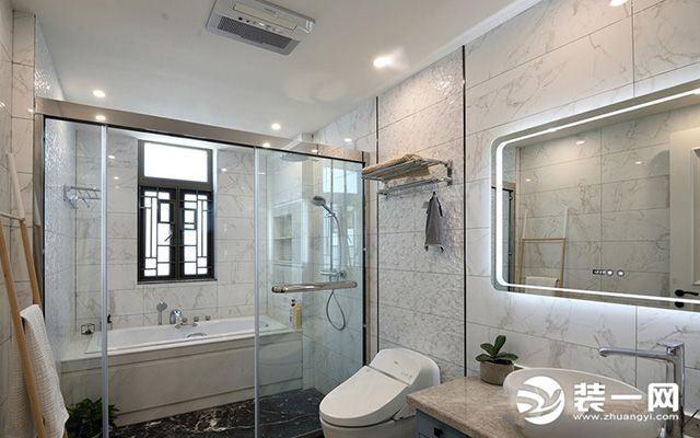 卫生间玻璃移门装修图片 想要干湿分离就要这样做!