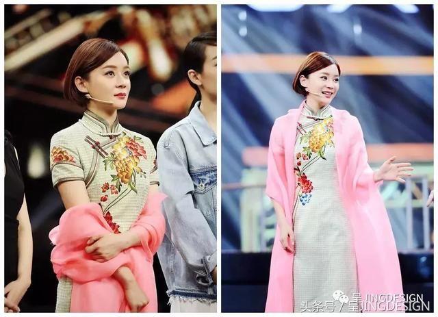 短发也可以搭配旗袍哦,如果是齐刘海学生短发,配上清爽的旗袍,既显得图片