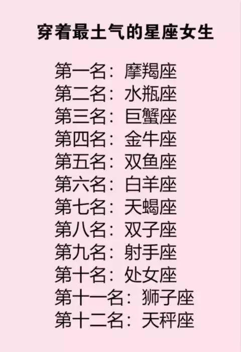 十二星座之长相超准_十二星座女生的长相排名-十二星座长相排名