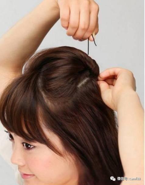 短发可爱的发型扎法图解