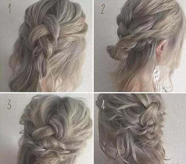 怎样扎头发简单好看短发发型步骤