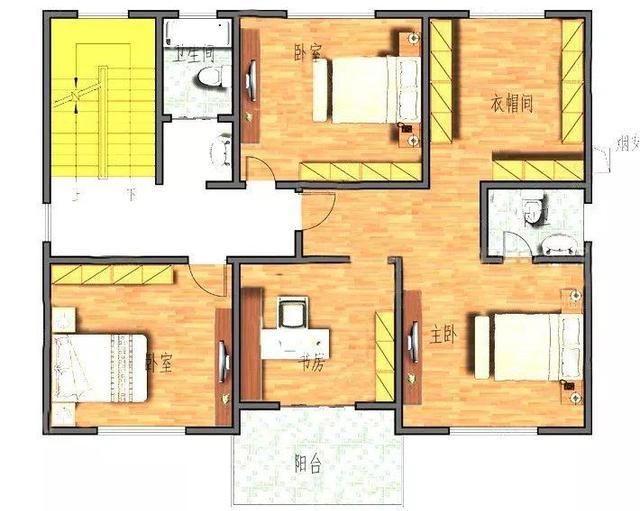 2款进深10米左右农村二层房屋设计图