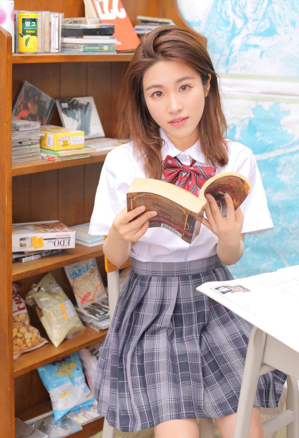 制服流程美女大长腿性感写真高中教师图片私房资格证v流程图片