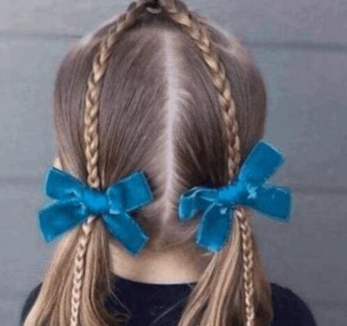 儿童编发发型大全简单