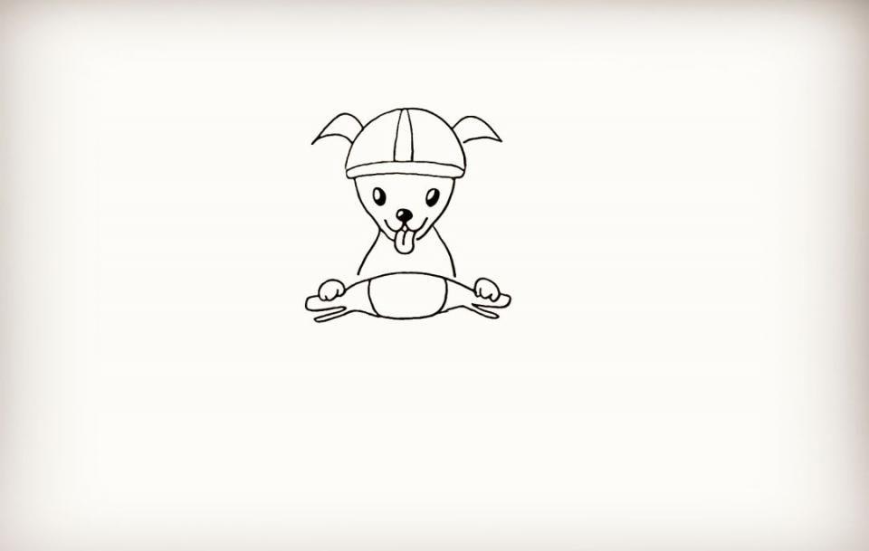 动物旅行的简笔画