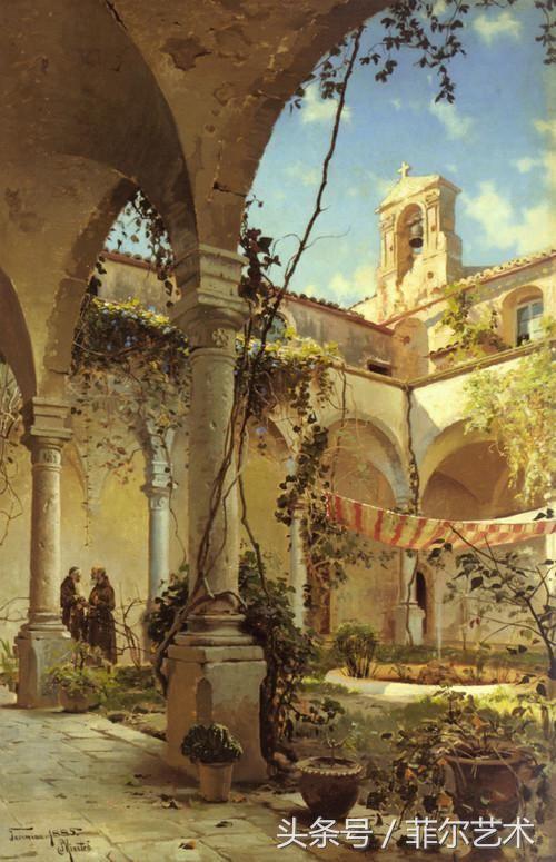经典油画丹麦画家蒙森德气势磅礴的风景油画作品赏析