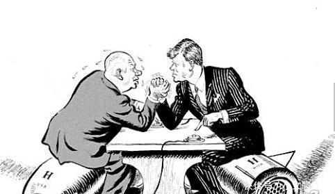 美苏时期漫画漫画,谁都看不上谁,啥也不说先互花女冷战新