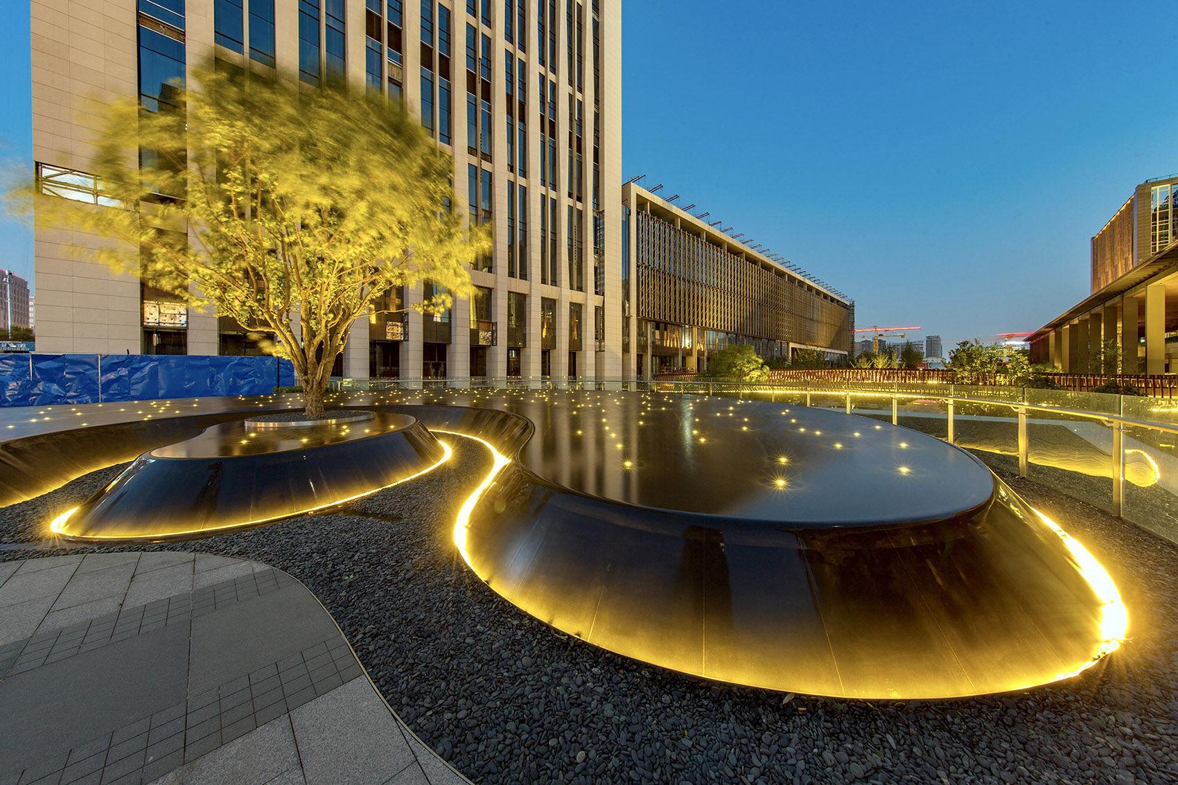 景观设计:藏在星光里的城市镜池--北京华夏a星光内容地质图绘制需要哪些水文图片
