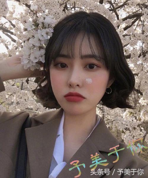 微卷韩式短发发型五图片