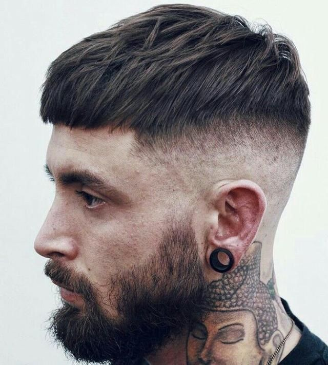 发质硬的男生适合发型图片
