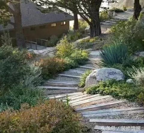 庭院这么铺装,景观设计才美!图片