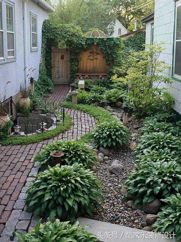 私家庭院別墅花園景觀設計!園林綠化效果圖