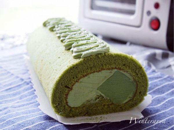 『蛋糕』抹茶奶冻蛋糕卷