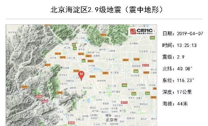 刚刚,北京地震了!最新地震风险度指数排名在这…