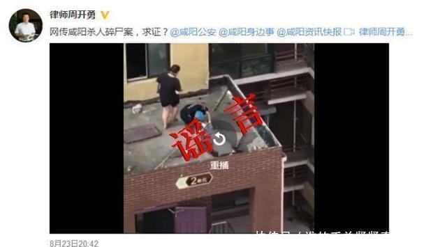 """网传""""咸阳杀人碎尸案""""系谣言"""