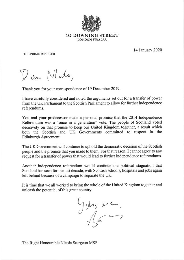 """正式拒绝授权苏格兰举办第二次独立公投,英首相被批""""拒绝民主"""""""