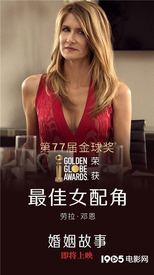 《婚姻故事》确认引进内地 劳拉·邓恩再获金球奖