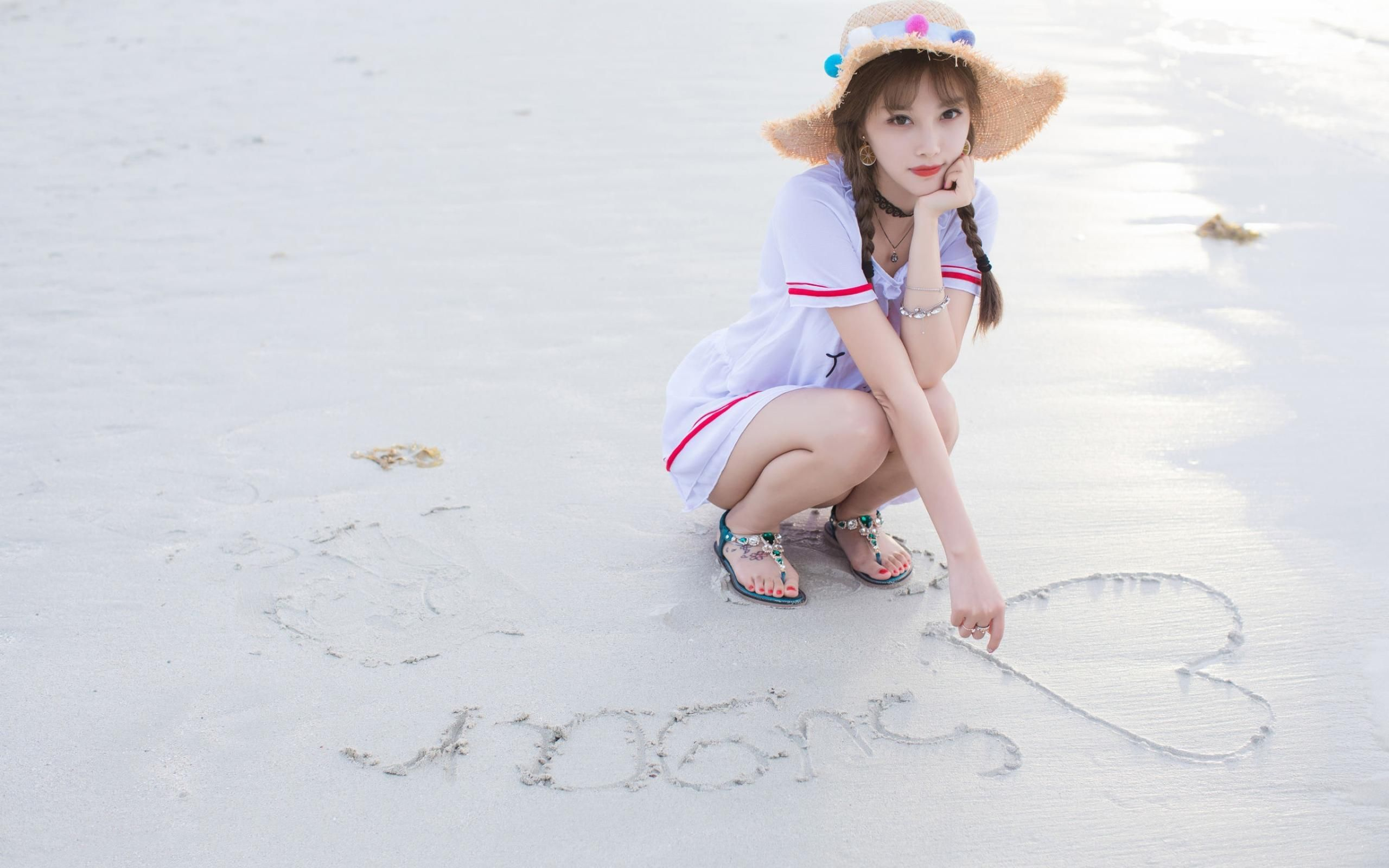好可爱的小美女,海边摄影写真,清新靓丽,迷人插图(4)