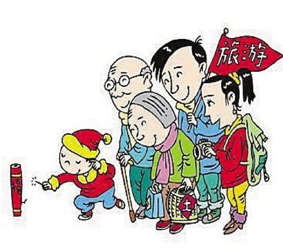 春节临近,旅游过年受市民青睐