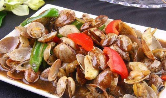 [辣椒]四季豆炒蛋、豉汁花甲、孜然土豆、淮山酱