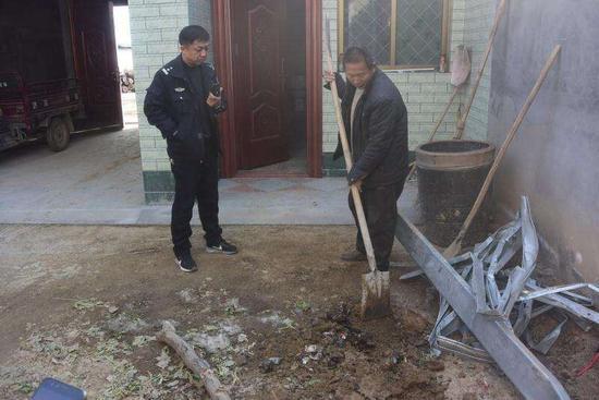 周口男子肇事逃逸后将车拆碎埋自家院内被刑拘