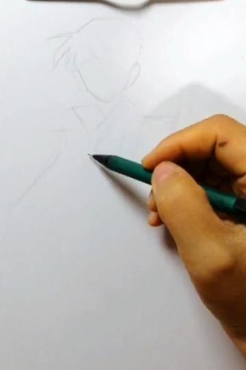 """美术生画""""汉服版柯南"""",开始:有点期待诶,结局:能画个小蓝吗?"""