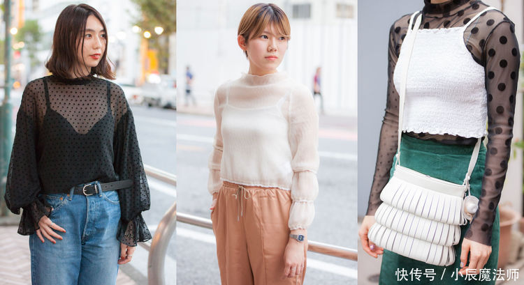 透视装时尚穿搭!女人味和性感的结合,清凉少女街拍写真