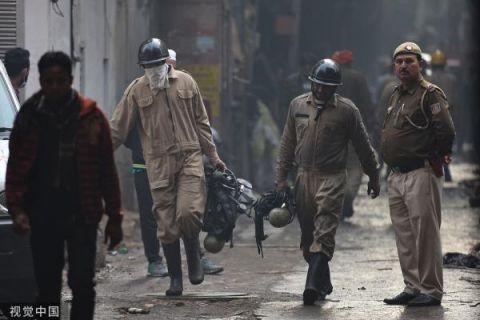 目击 | 印度工厂大火死亡人数升至43人