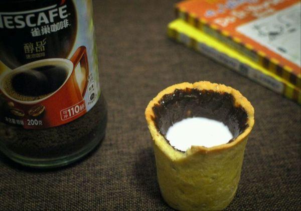『咖啡』咖啡巧克力酱曲奇杯
