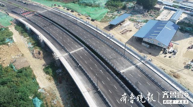 国内跨径最大反S形钢结构连续梁,济宁车站南路跨老运河桥通车