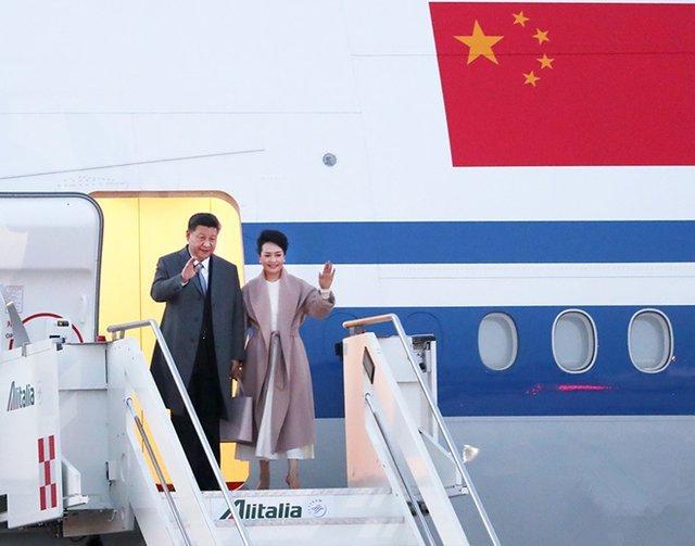 习近平抵达罗马 开始对意大利共和国进行国事访问