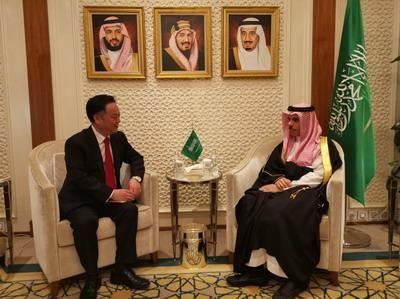 驻沙特大使陈伟庆拜会沙新任外交大臣:推动中沙关系再上新台阶