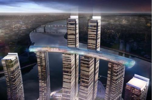 """重庆又火了!这座""""横着建""""的摩天大楼,惊艳到了众多国外网友!"""