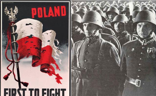 「老照片」你没见过的老照片:波兰妇女超级淡定,站在入侵德军中间看热闹