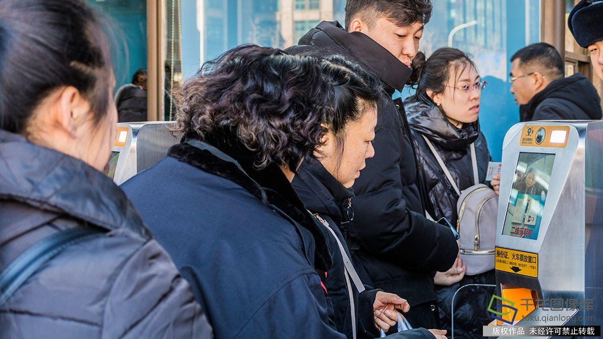 """北京站所有通道""""刷脸进站"""""""