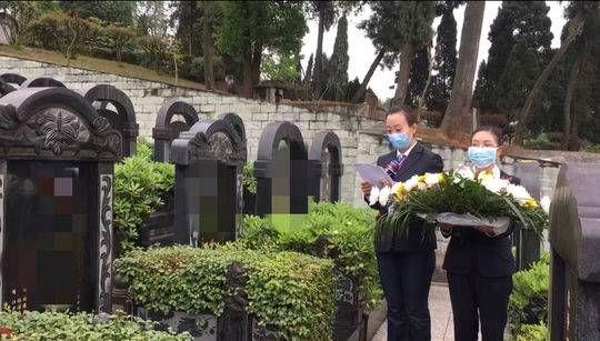 清明期间 成都多家公墓提供代客祭扫服务