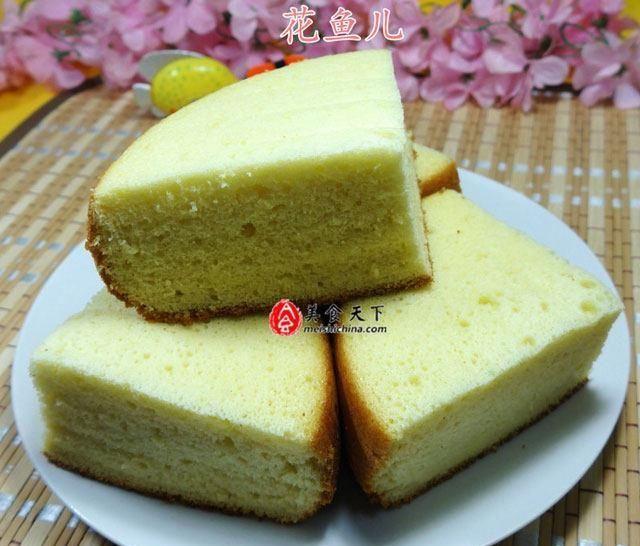 「蛋糕」电饭锅海绵蛋糕,口感柔软细腻,烘焙新手也能零失败
