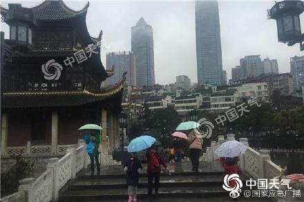 贵州17站降水量破纪录 今起雨势减弱持续湿冷