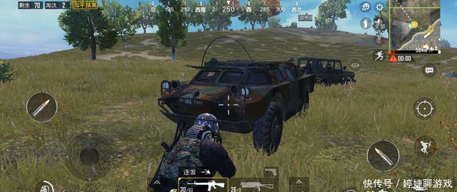 和平精英:装甲车坚固的不是车身,而是轮胎!1000发5.56不一定行