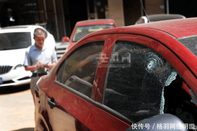 """合肥一小区20多辆车遭袭 肇事者称""""停草坪必砸车"""""""