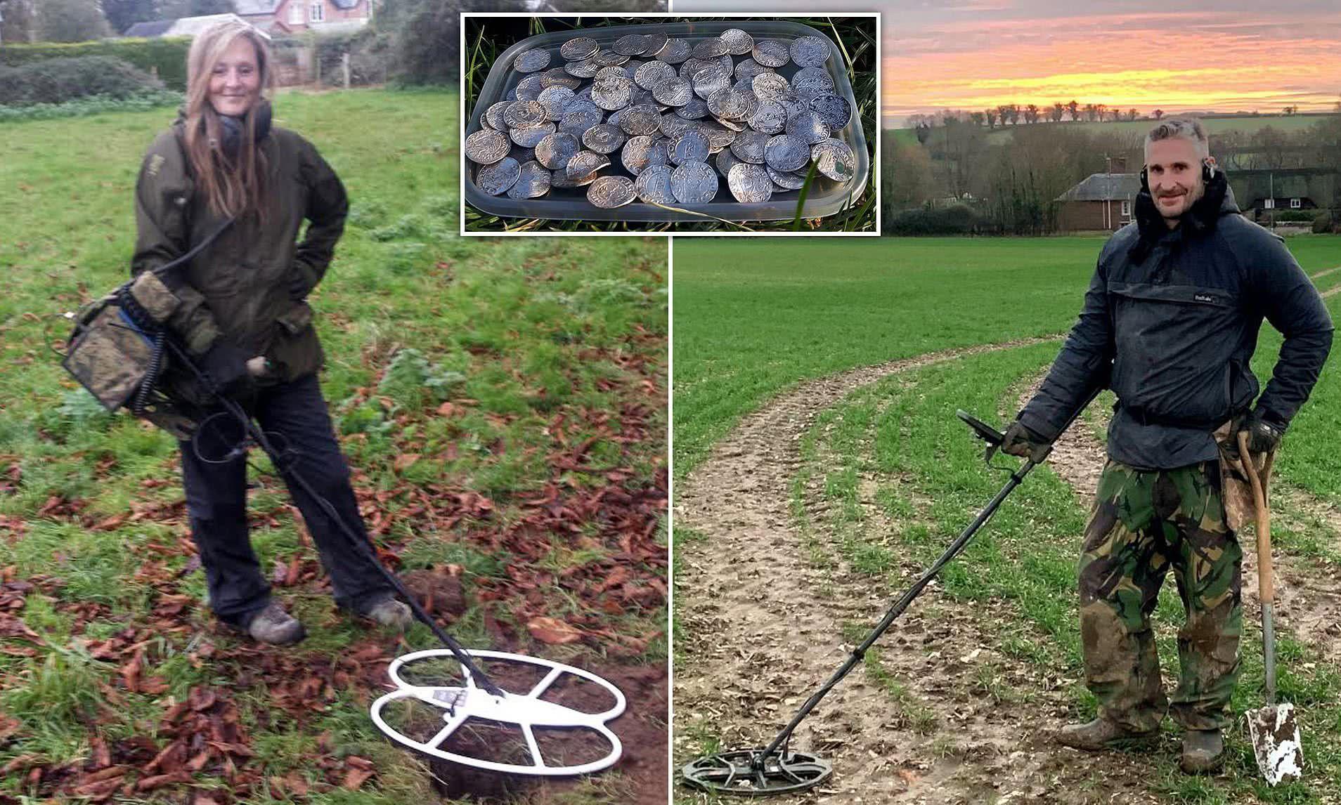 <b>夫妻俩用金属探测仪发现数千枚千年古币,上交国家后将获千万补偿</b>