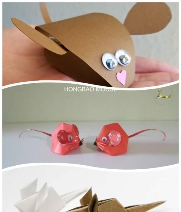 转帖:纸艺老鼠教程来了! 卡纸,折纸老鼠,你喜欢哪个 (1)