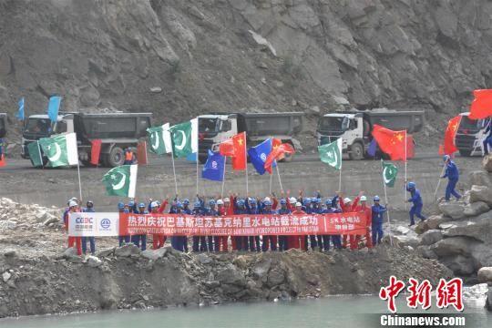【截流】巴基斯坦SK水电站大坝截流 攻克诸多世界级难