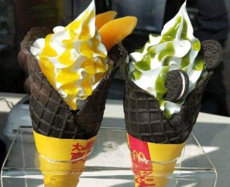 『奶油』肯德基VS麦当劳,谁的冰淇淋更受大众欢迎?4种对比一较高下